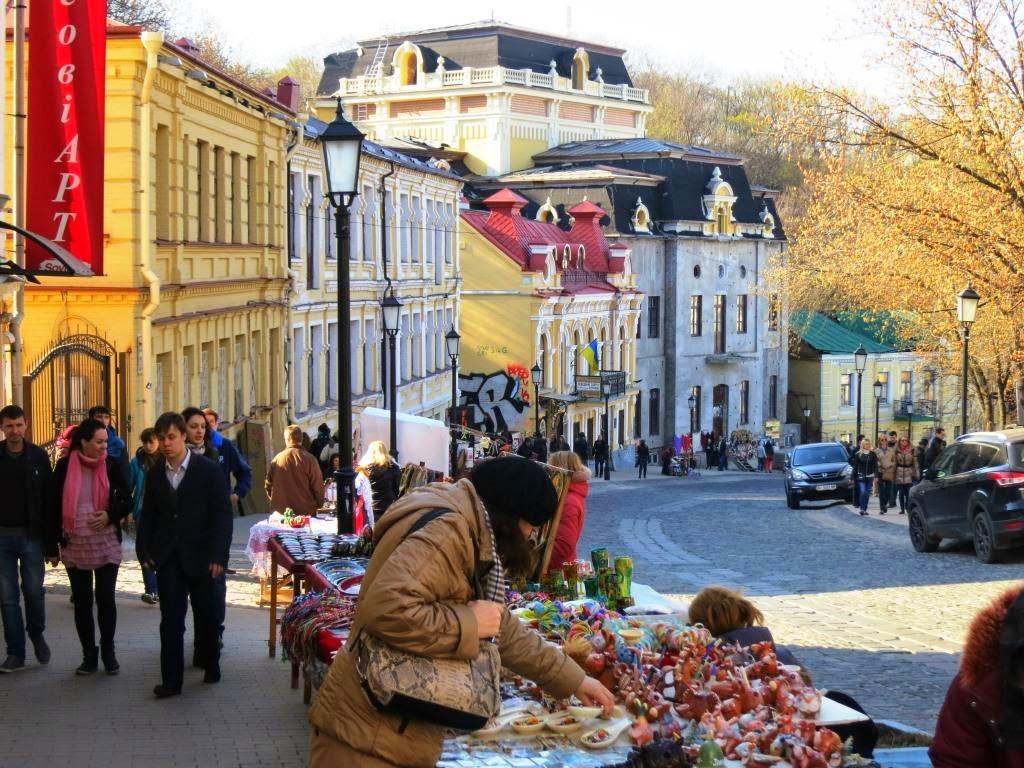 Souvenirmarkt-Kiev