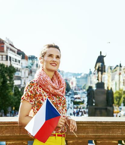 Tschechische Frau in Prag, Tschechien